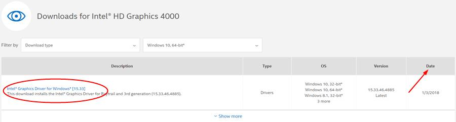 intel hd graphics 4000 driver windows 7