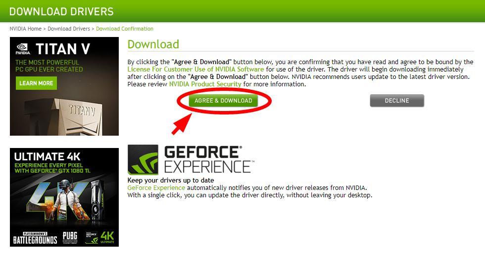 NVIDIA GeForce GTX 1080 Ti Graphics Card Drivers Download