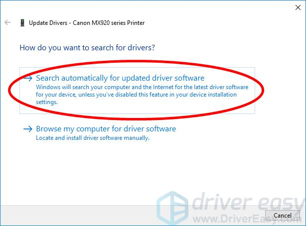 Canon MX920 Printer Driver Download for Windows - Driver Easy