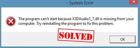 x3daudio1_7.dll download windows 7 64 bit