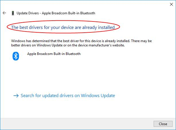 broadcom bluetooth driver windows 10 apple