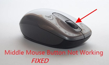Middle Mouse Button Not Working [Fixed] - Best Solutions