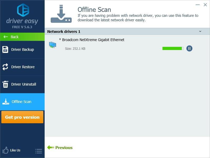 Update network driver offline driver easy.