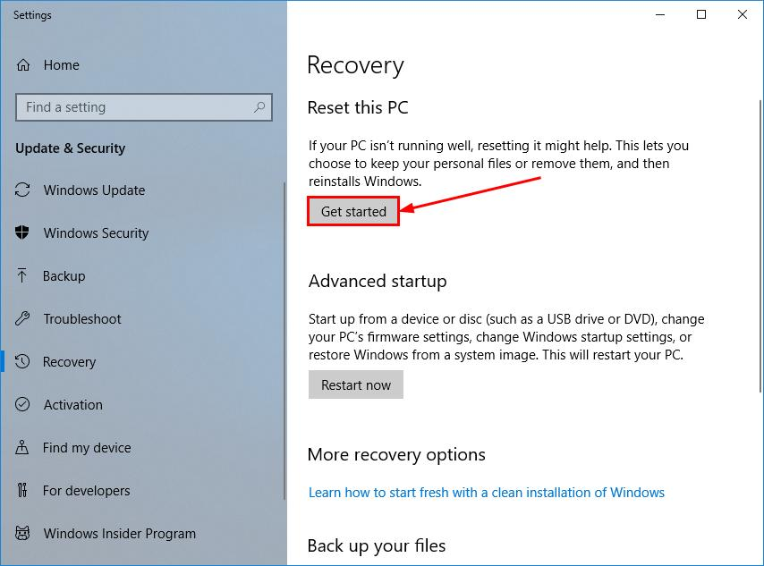 How to Factory Reset Windows 10 [4 Steps] - Driver Easy