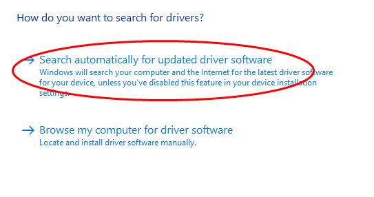 4 Choose Search Automatically From Updated Driver Software Then Follow The On Screen Instructions To Finish