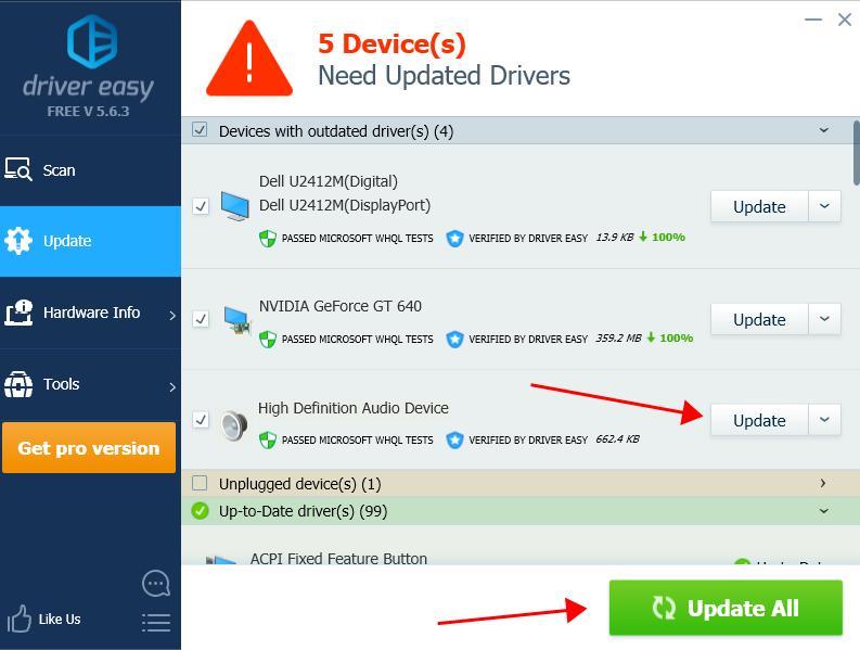 update drivers windows 7 hp