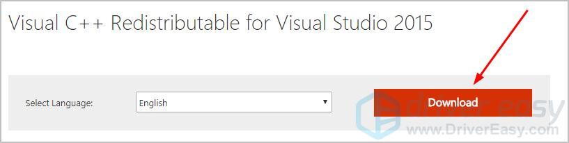 visual c 2015 runtime download