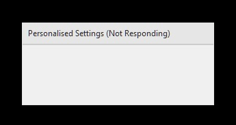 Personalized Settings (Not Responding) [FIXED] - Driver Easy