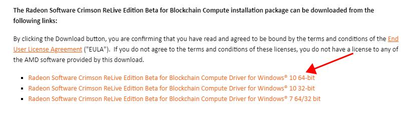 AMD Blockchain Drivers Download and Install for Windows