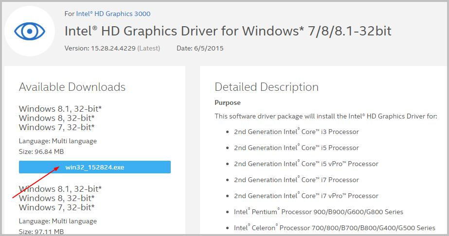 intel hd graphics 3000 драйвер windows 7 64 bit
