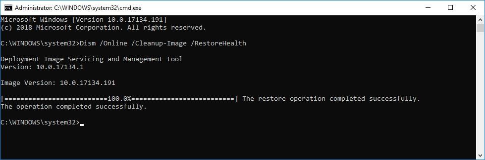 fix windows update database error