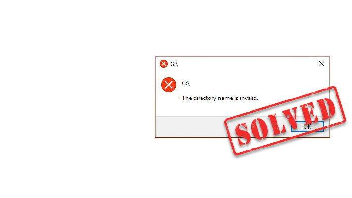 SOLVED] The directory name is invalid Error - Driver Easy