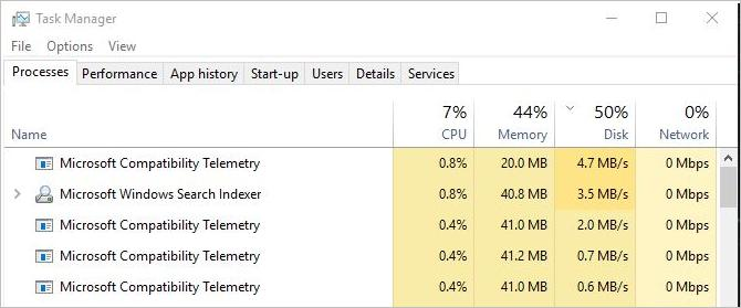 windows 10 causing high cpu usage