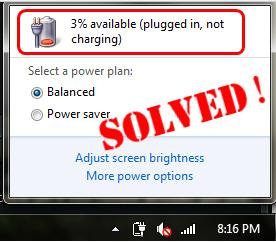 plugged in not charging laptop