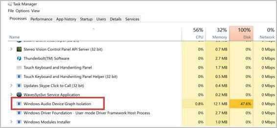 Fix Windows Audio Device Graph Isolation High CPU Usage