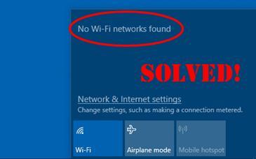 No wifi windows 10 fix