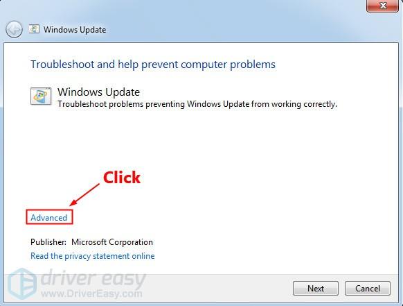 microsoft windows 7 update troubleshooter