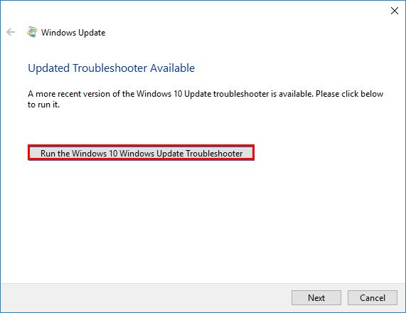Updated Troubleshooter Available