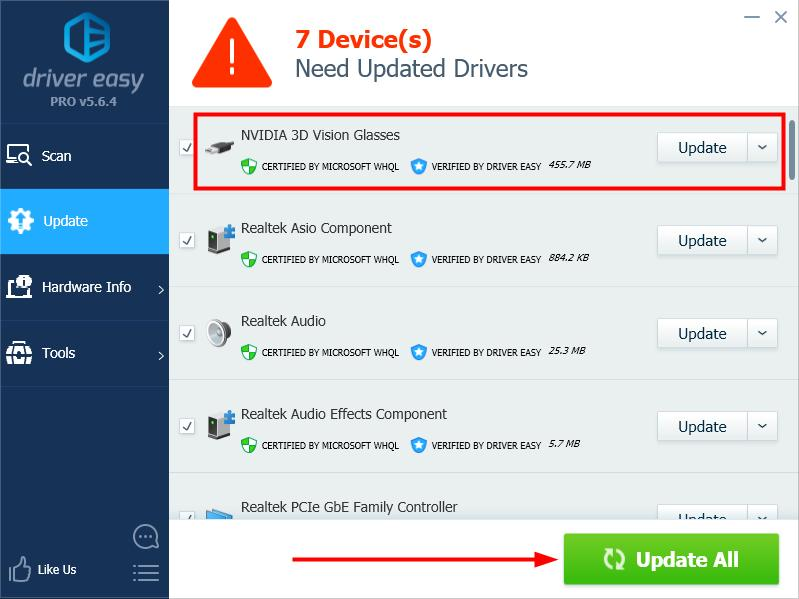 nvidia 3d vision controller driver download