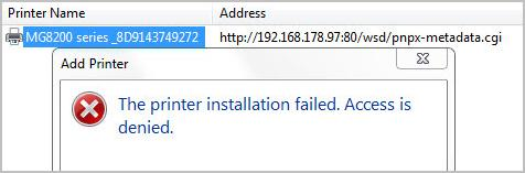 Printer Driver was not Installed: Access is denied - Driver Easy