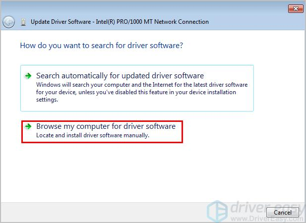 how to manually update drivers windows 7