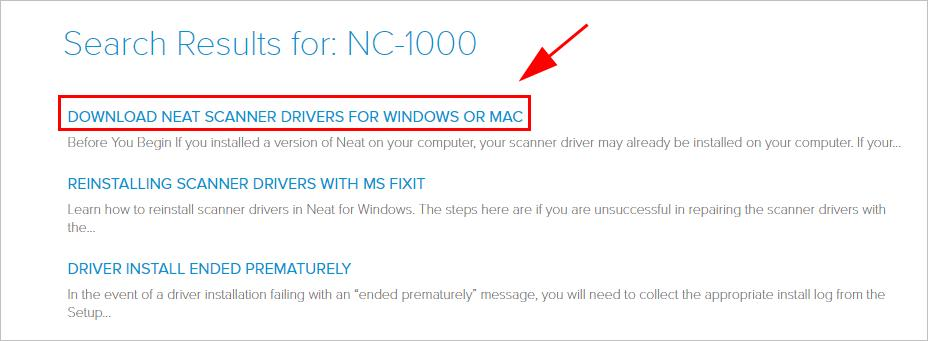 download neat scanner driver for windows 10