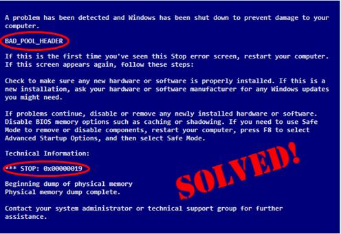 0x00000019 Bad Pool Header in Windows 10/8/7 [SOLVED] - Driver Easy