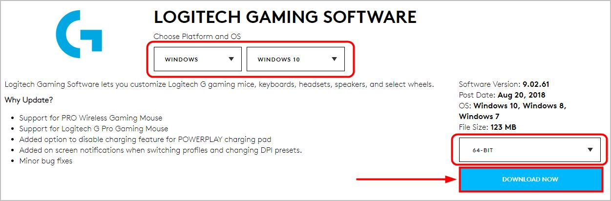 Logitech Gaming Software | Latest Download | For Windows 10, 8 & 7