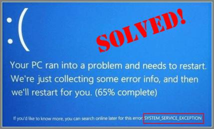 system service exception blue screen windows 7 64 bit