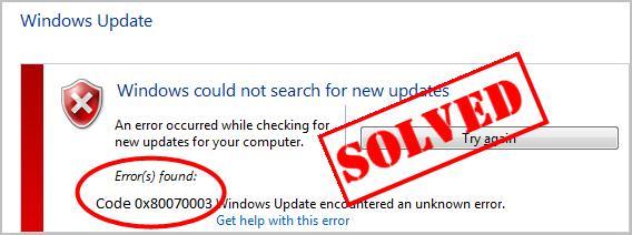 0x80070003 Windows Update Error [Solved] - Driver Easy