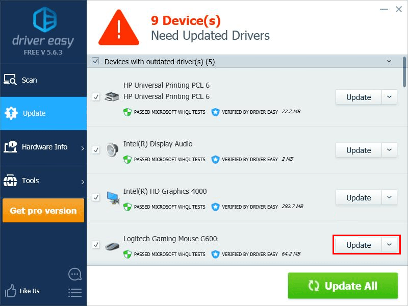 Logitech G602 driver download for Windows - Driver Easy