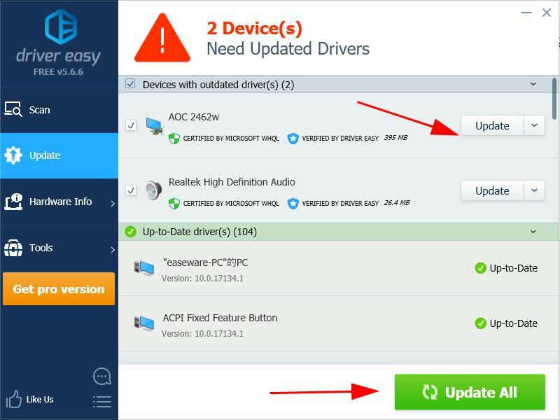 win aoc download v.1903 monitor driver 10