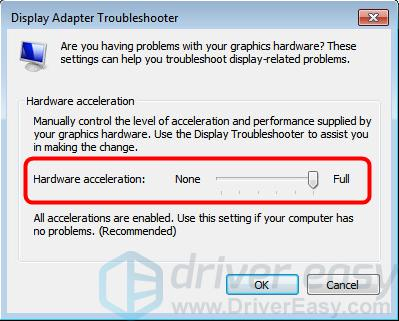 Fix hardware acceleration issues for Windows - Driver Easy