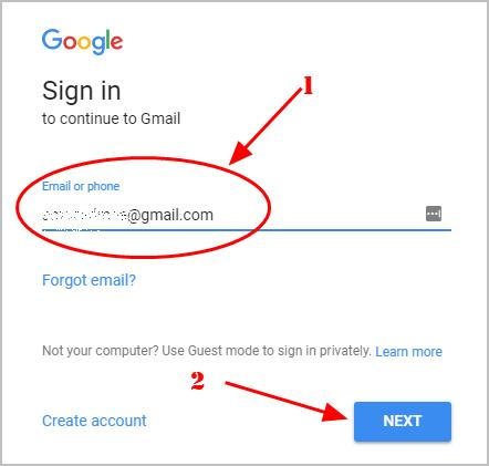 lost gmail password finder