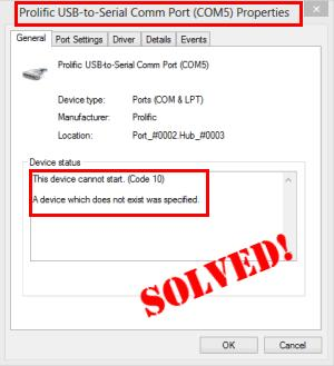 Prolific Usb to Serial Code 10 in Windows 10/8/7 [SOLVED] - Driver Easy