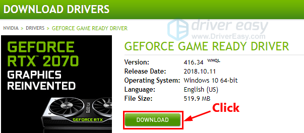 Geforce RTX 2080 driver download for Windows - Driver Easy