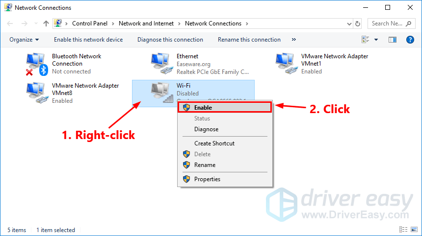 Wireless network connection adapter is disabled [SOLVED] - Driver Easy