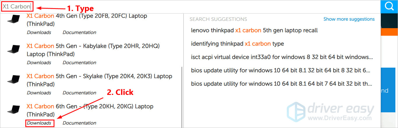 Lenovo X1 Carbon drivers download for Windows 10 & 7 [Easily
