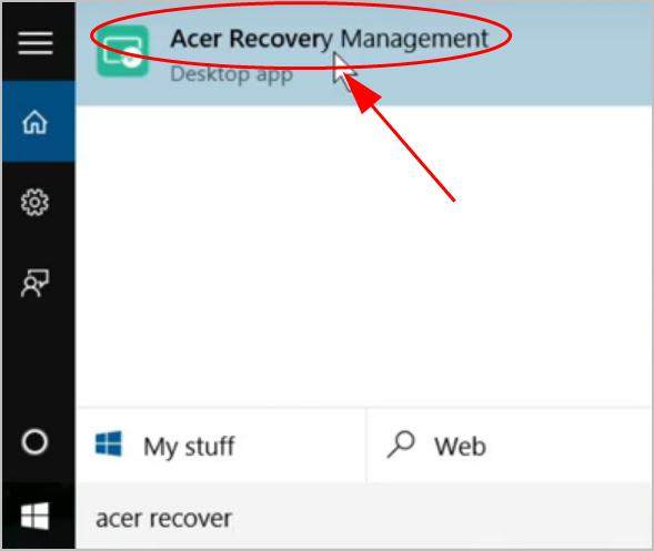 how to reset acer laptop to factory settings