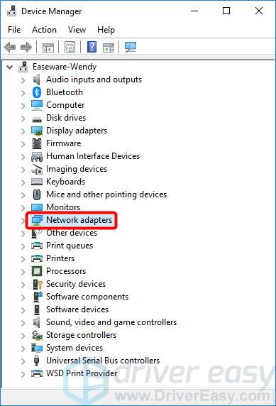 install a driver for your network adapter asus