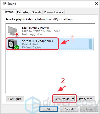 Speaker Plugged In But No Sound in Windows [FIXED] - Driver Easy