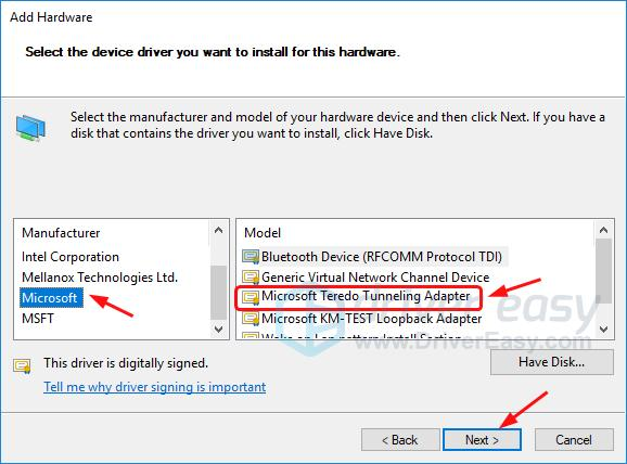 Solved] Microsoft Teredo Tunneling Adapter missing - Driver Easy