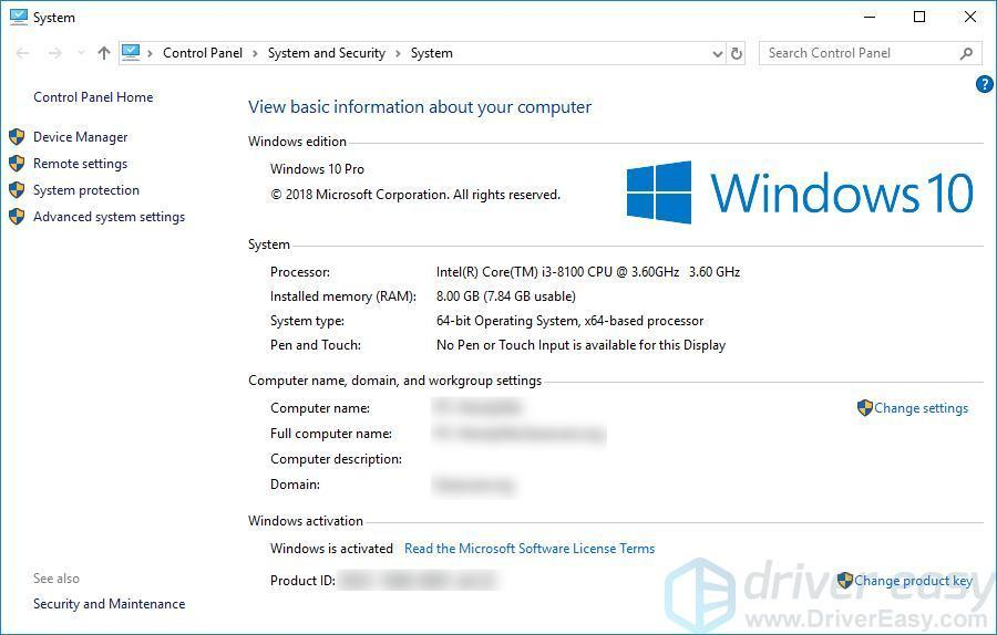 How to find computer specs Windows 10 [Easily] - Driver Easy