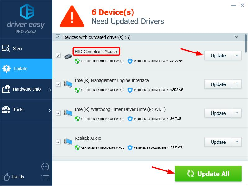 Download Mouse Driver for Windows 7 [Solved] - Driver Easy