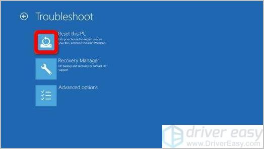 recover hp laptop windows 8