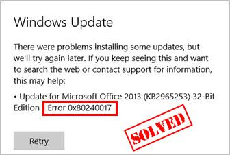 Windows Update Fixit >> Windows Update Error 0x80240017 Fixed Driver Easy