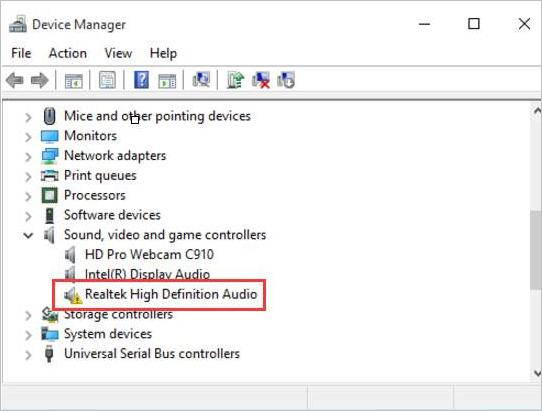 Fix Windows 10 Realtek High Definition Audio Driver Issue