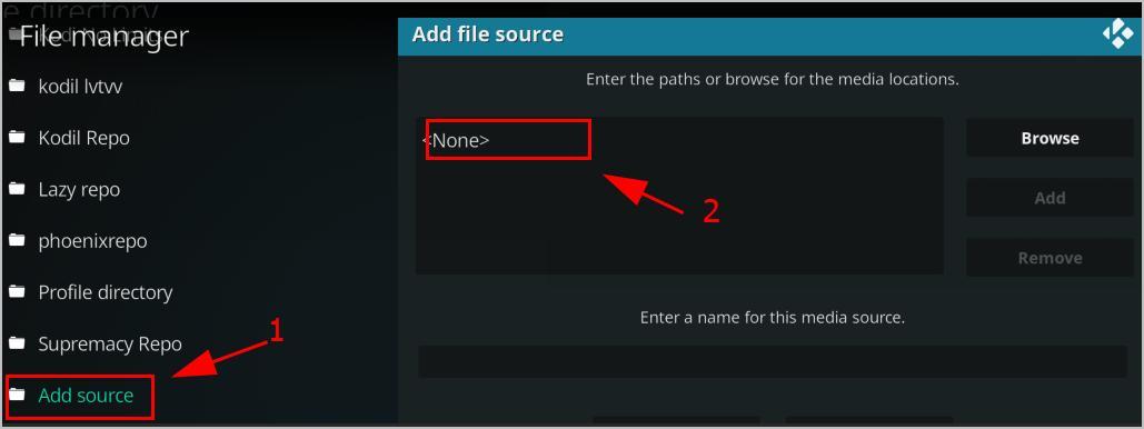 kodi file manager sources