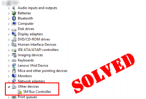 Hp and compaq desktop pcs problem with the driver for sm bus.