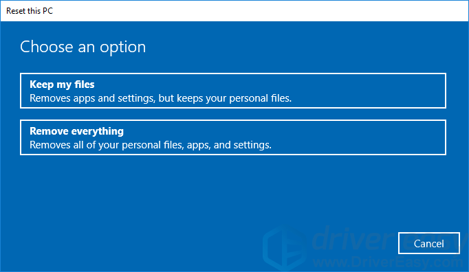 How To Factory Reset a Dell Laptop - Driver Easy
